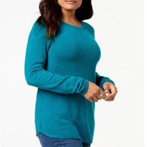 Karen Scott Women's Curve Hem Sweater Size 2X